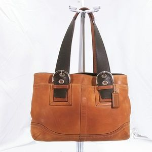 Coach Leather Shoulder Handbag